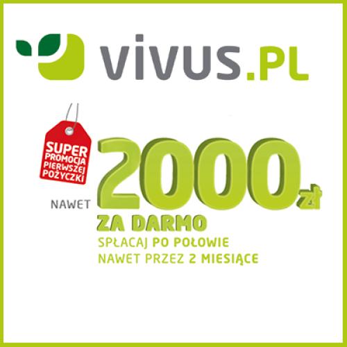 Vivus pożycza do 2000 zł za darmo wraz z nową promocją