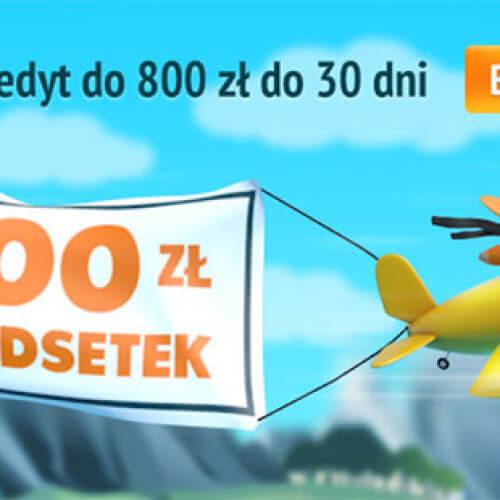 Pierwsza bezpłatna pożyczka od credit.pl