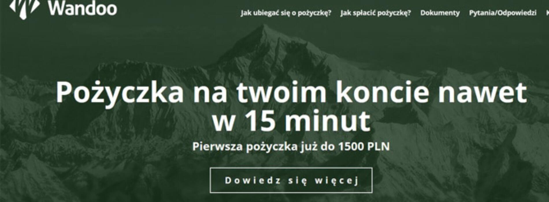 Kolejna darmowa chwilówka na rynku – Wandoo.pl