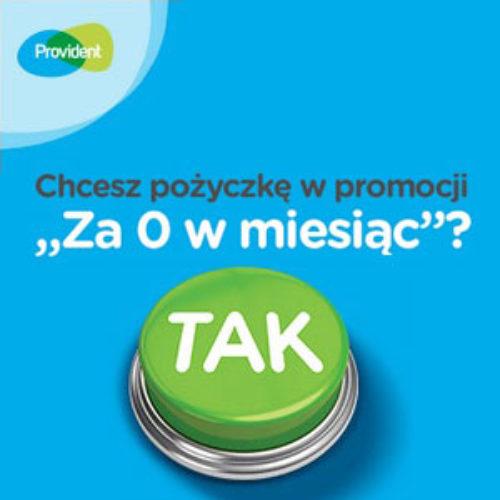 """Ostatnie dni promocji Providenta – pożyczka """"za 0 zł w miesiąc"""""""