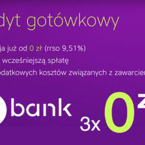 Kredyt Gotówkowy 3 x 0 zł do wzięcia w InBank