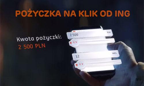 Pożyczka na klik od ING – szybka i całkowicie online