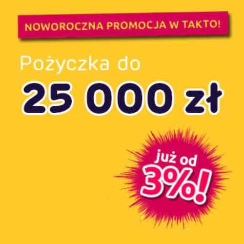 Noworoczna promocja w TakTo – pożyczka do 25 000 zł z obniżonym oprocentowaniem!