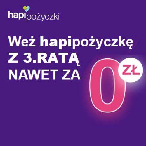 Nowa promocja Hapipożyczka 500+.  Tylko dla nowych klientów i tylko do końca lipca!
