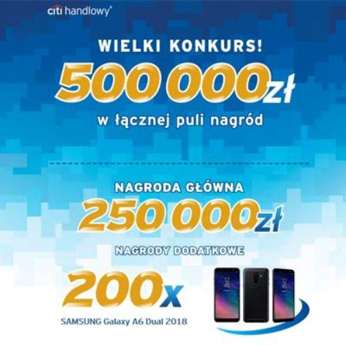 Nowy konkurs w Citibank – tym razem do wygrania 250 000 zł lub smartfony!