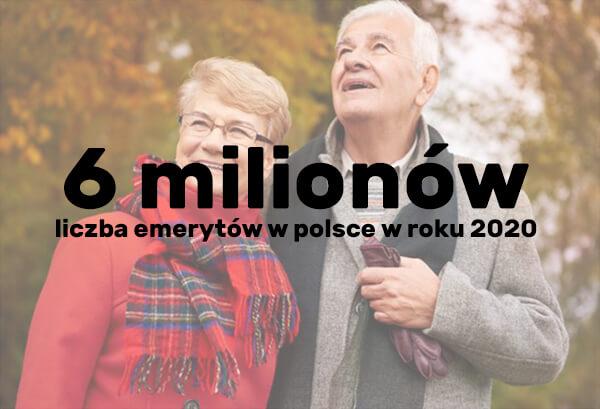 ilość emerytów w polsce w roku 2020