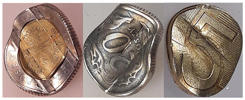 uszkodzone monety